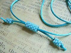 Beaded Cord - Tutorial attached. Cute and easy bracelet to make. Requires a little sewing by weaving a needle and thread through several beads but it's easy to do once you get the hang of it. Looks really cute if you thread beads on the rest of cord too - to cover the cord around the rest of your wrist.