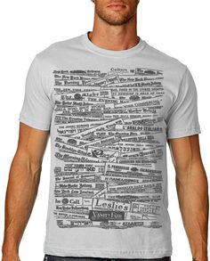 Vintage Newspaper Tshirt Vintage History by nonfictiontees on Etsy, $15.00