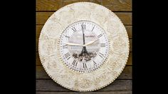Decoupage lesson for beginners #50 - wall clock in mixed media art techn...