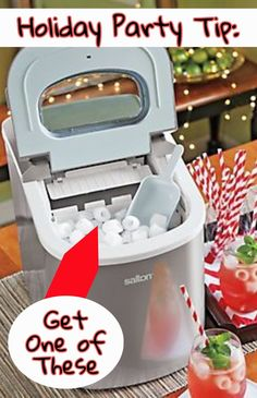 Useful kitchen gadget! Holiday Party Tip - GET A PORTABLE ICE MAKER! Seriously, a little countertop ice maker will help you host your next party and never run out of ice. Amazing kitchen gadgets and gizmos. Winners And Losers, Rv Hacks, Cool Kitchen Gadgets, Gadgets And Gizmos, Get One, Holiday Parties, Countertops, Cool Things To Buy, Camping Kitchen