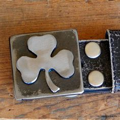 3LEAF CLOVER Shamrock Belt Buckle Hanmade by WATTO by WATTOonline, $45.00
