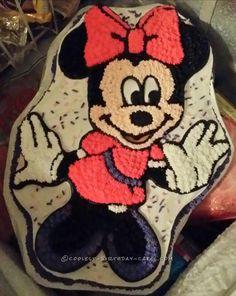 Easy Minnie Mouse Birthday Cake... Coolest Birthday Cake Ideas