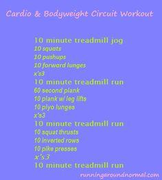 Cardio & Bodyweight Circuit Workout