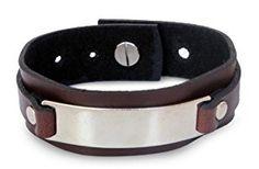 Leather wristband bracelet, 'Modern Thai Contrast'  http://electmejewellery.com/jewelry/bracelets/wrap/leather-wristband-bracelet-39modern-thai-contrast39-com/