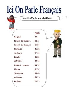 elementary french on pinterest worksheets french and french phrases. Black Bedroom Furniture Sets. Home Design Ideas