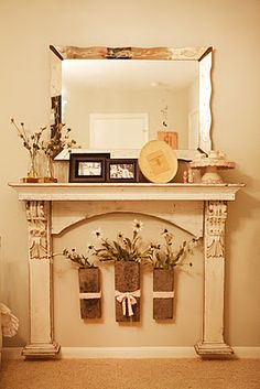 Good Cost-Free fixer upper Fireplace Mantels Tips Most current Absolutely Free Faux Fireplace fixer upper Ideas I like an excellent faux fireplace , Faux Foyer, Faux Mantle, Faux Fireplace Mantels, Paint Fireplace, Fireplace Hearth, Fireplace Design, Fireplace Ideas, Mantle Shelf, Fireplace Decorations