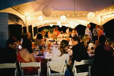 Wedding tent, lights--this is literally, exactly what I want