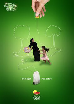 Advertising Campaign : Lipton Clear Green tea print ad 'Step into the green side of life' d Ads Creative, Creative Posters, Creative Advertising, Advertising Poster, Advertising Campaign, Advertising Design, Marketing And Advertising, Social Campaign, Green Marketing
