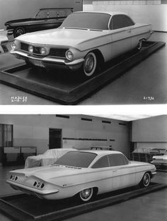 1961 Chevy clay styling model, c 1959