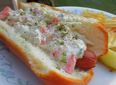 Make and share this Greek Style Hot Dogs recipe from Genius Kitchen. Hot Dogs, Hot Dog Buns, Hot Dog Chili, Chili Dogs, Hamburgers, Sandwiches, Tostadas, Dog Recipes, Cooking Recipes