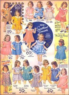 Vintage Sears catalog toddler dresses...sweet!!!