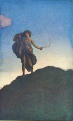 Collectibles 1900-09 1904 Maxfield Parrish Print From Keats To Autumn Vintage 2 Print Set Nm