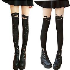 4e1da0948 Searchself Big Girls Sexy Cute Mock Over Knee Pantyhose Stockings Tights  (E)