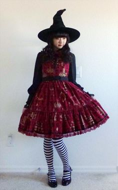 Halloween Lolita witch: Angelic Pretty – Moon Night Theater Tiered $162.00 sold on lace market