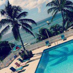 Poolside in St. Kitts.