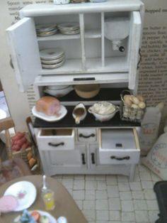 hoosier cabinet in miniature