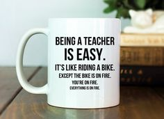 Teacher Mug Teacher Gift Idea Being a Teacher by TheHoldFastery