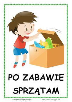 BLOG EDUKACYJNY DLA DZIECI: Kodeks przedszkolaka Learn Polish, Polish Language, Teacher Inspiration, 100 Words, School Projects, Kids And Parenting, Montessori, Kids Room, Kindergarten