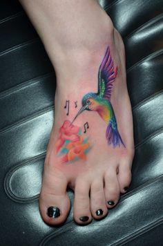 #Hummingbird Tattoo #Custom Design by #Lita Edwards #Red Tattoo Parlor #Mt. Juliet, Tn.