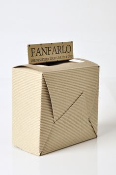 Starpack packaging awards - Fanfarlo CD packaging by Chantelle Barnard-Rance, via Behance