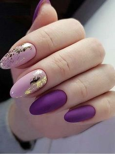 33 Stunning Gold Foil Nail Designs To Make Your Manicure Shine - New Ideas Foil Nail Designs, Best Nail Art Designs, Trendy Nails, Cute Nails, My Nails, Foil Nail Art, Foil Nails, Nails With Foil, Perfect Nails