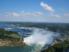 Canadian Horseshoe Falls with Buffalo in background