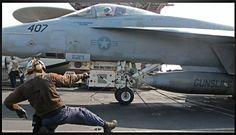 Flight Deck, USS Harry S Truman, VFA 105
