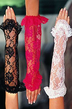 Long Lace Gloves with Ruffle Trim...very Stevie Nicks-ish...