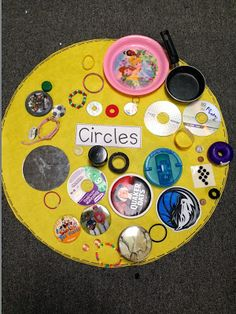 Have children collect circle items from home to add to one large circle.