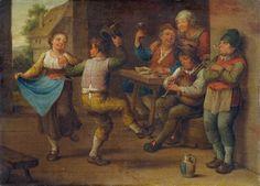Unbekannter Meister 18-19 Jh Feiernde Bauern - Peasant - Wikipedia, the free encyclopedia