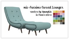 Day 11 March Madness at Hell Has Spoken Sims 4 Awesims Curved Lounger converted by mio Recolored by me in Anna's Colors DOWNLOAD