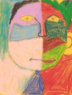Modern Art 4 Kids: Wild Side/Calm Side Self-Portraits