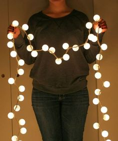 Ping pong ball lights is a great DIY lighting idea for teens and kids rooms. It's really fun to lit some DIY Lights like Lamps, Pendants, in the bedroom. But one of my favorites is ping pong ball lights. Ball Lights, String Lights, Globe Lights, Party Lights, Light String, Twinkle Lights, Outdoor Projects, Home Projects, Diy Home Decor