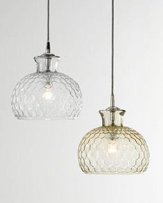Lighting - This honeycomb-patterned pendant light looks spectacular hanging in multiples above a bar, dining table, or entryway.