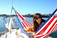 Hammock American Flag Design Two Person by by YellowLeafHammocks, $179.00