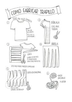 Patrones Trapillo: Cómo fabricar trapillo                                                                                                                                                      Más