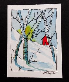 ACEO Original Watercolor Painting - by Watercolorist Jim Lagasse #Realism #watercolorarts