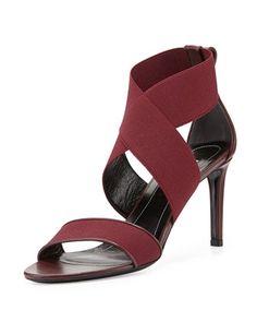 Elastic Crisscross Sandal, Prune by Balenciaga at Bergdorf Goodman.