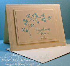 Beautiful, simple design using Stampin' Up! Thoughts & Prayers by Artistic Designs by Rachel