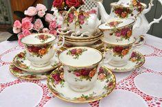 Vintage Royal Albert Teacups and Saucers Tea Set by cake-stand-heaven, via Flickr