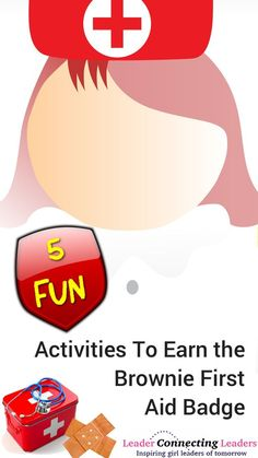 5 Fun Activities To Earn the Brownie First Aid Badge. If you have a Brownie troo… 5 Fun Activities To Earn the Brownie First Aid Badge. If you have a Brownie troop they will love working on their First Aid… Continue Reading → Girl Scout Activities, Activities For Girls, Fun Activities, Girl Scout Brownie Badges, Brownie Girl Scouts, Girl Scout Leader, Girl Scout Troop, Brownie Meeting Ideas, Brownie Ideas