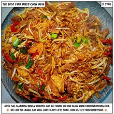A perfect mixed chow mein dish! Perfect on Slimming World as it only comes in at 2 syns and tastes exactly like the takeaway version!