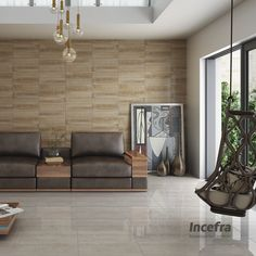 Aposte em combinações de piso e parede e surpreenda-se! #sala #livingroom #incefra #piso #pisoceramico #decor #decoracao #ceramica