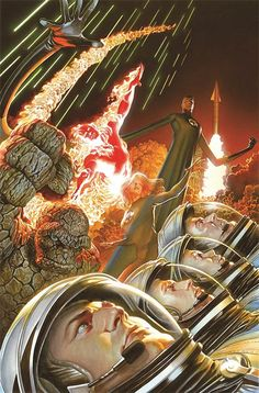 """Images for : Alex Ross Celebrates 75 Years of Marvel, From """"Fantastic Four"""" To """"Miracleman"""" - Comic Book Resources Ms Marvel, Marvel Comics Art, Marvel Heroes, Captain Marvel, Comic Book Characters, Marvel Characters, Comic Books Art, Book Art, Fantastic Four 1"""