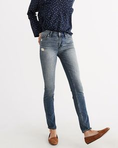 A&F Women's Straight Jeans