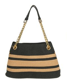 Visit Stein Mart to find the best prices on designer handbags & accessories. Crochet Accessories, Handbag Accessories, Crochet Wallet, Hello Kitty Crochet, Striped Shoulder Bags, Crochet Fabric, Leather Bags Handmade, Fabric Bags, Summer Bags