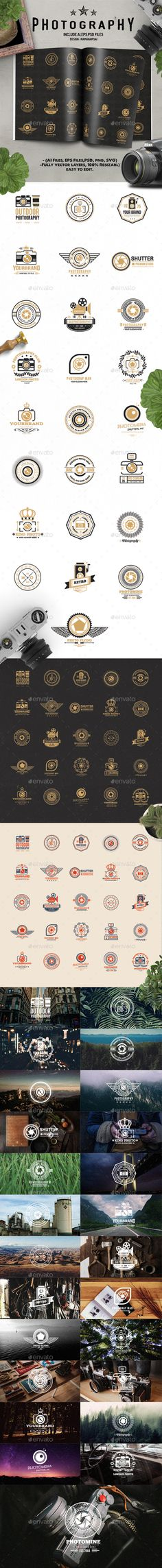 25 Photography Logo Design Template - Web Element Template PSD, EPS Vector, AI Illustrator. Download here: https://graphicriver.net/item/25-photography-logo-design/17353791?ref=yinkira