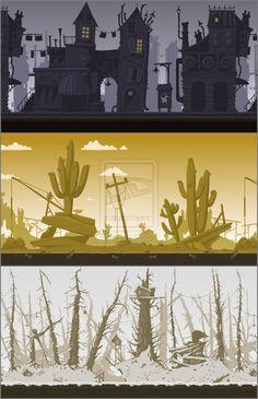 """Background for flash game """"Groundhog D-Day by Pykodelbi.deviantart.com on @deviantART"""