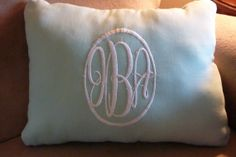 Monogrammed Pillow  Decorative Embroidered by JulieButlerCreations, $25.00