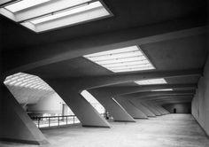 Pier Luigi Nervi, il Palazzo delle Esposizioni, inaugurato il 15 settembre 1948 per il XXXI Salone dell'automobile